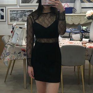 Topshop black lacy cutout dress